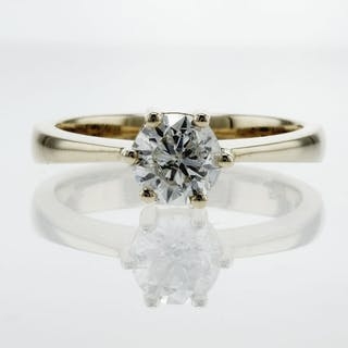 14 kt. Yellow gold - Ring - 1.00 ct Diamond - F/SI2