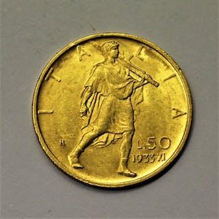 Italy - Kingdom of Italy - 50 Lire 1933- Gold