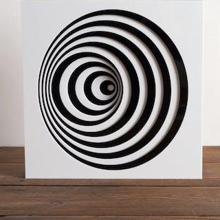 Gio Schiano - Scultura in plexiglass optical art - MISTRAL
