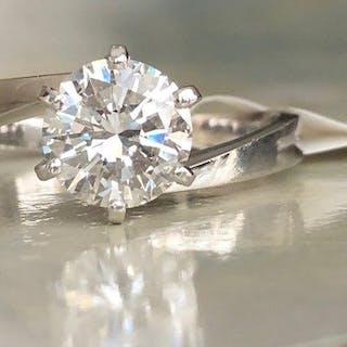 18 kt. White gold - Ring - 1.20 ct Diamond
