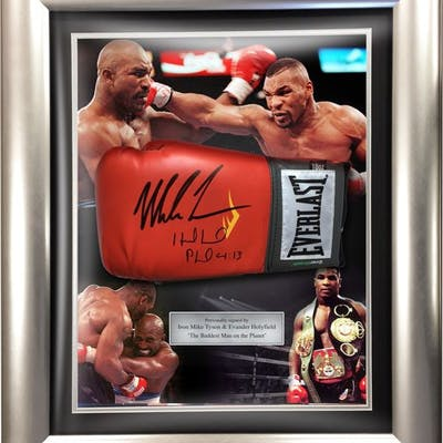 Signed & Framed - Boxing - Iron Mike Tyson & Evander...