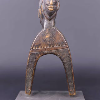 Pulley / caliper of loom - Wood - Galerie Claude Vérité - Sénoufo - Ivory Coast