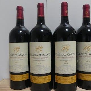 2012 Château Gravet - Saint Emilion- Bordeaux Grand Cru - 4 Magnum (1,5 L)