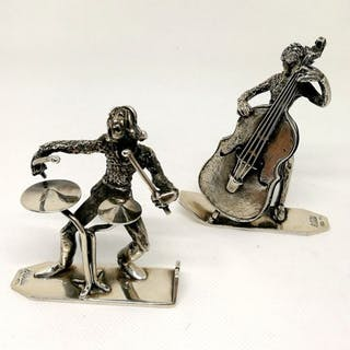 Fantástica pareja de esculturas que representan a los...