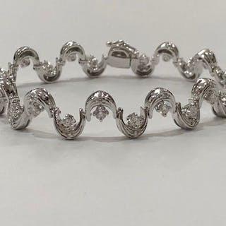 Damiani - 18 kt. White gold - Bracelet Diamond - Diamond