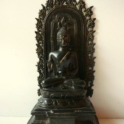 Bouddha - Bronze patiné - Inde - second half of the 20th century