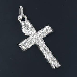 18 kt. White gold - Pendant - 1.50 ct Diamond