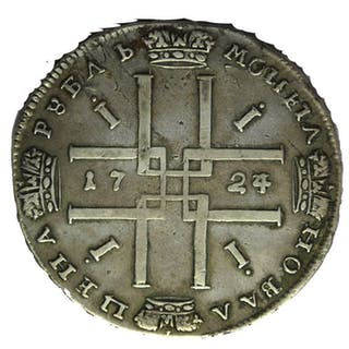 Russland - - Rouble 1724 Peter I (The Great)- Silber