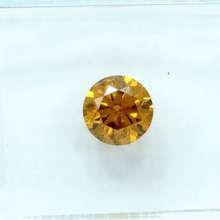 Diamond - 0.56 ct - Brilliant - Natural Fancy Deep...