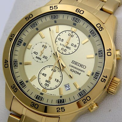 "Seiko - Chronograph ""Gold Edition"" 100M- ""NO RESERVE PRICE"" - Uomo - 2018"