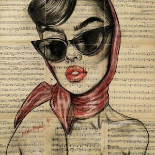 Margarita Balabina - stranger in a red shawl