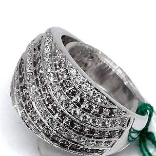 18 kt. White gold - Ring - 1.40 ct Diamond - Gray Diamonds