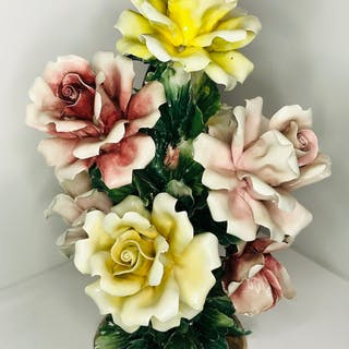 Visconti Mollica Capodimonte - Blumenstrauß - Keramik, Porzellan