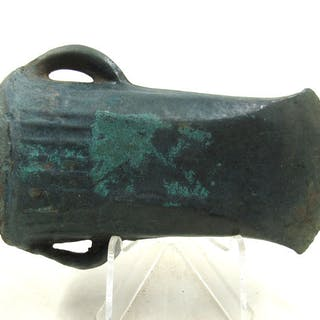 Ancient Bronze Age European Bronze Socketed Axe with Loop