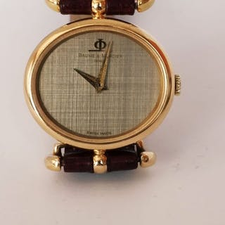 "Baume & Mercier - ""NO RESERVE PRICE"" Geneve 18K Solid Gold- Women - 1980-1989"