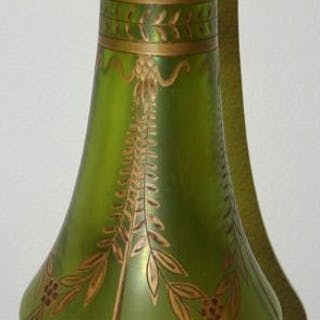Legras - Montjoye - Baluster Vase mit Kugelkragen Serie...