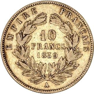 France - 10 Francs1859-A Napoléon III - Gold