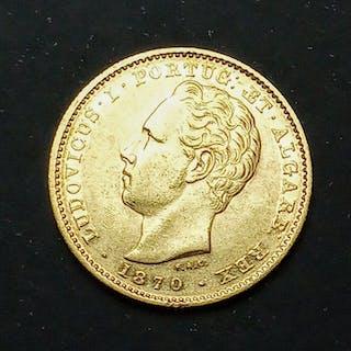 Portugal - Monarquia - D. Luís (1861-1889) - 5.000 Reis1870 - Gold
