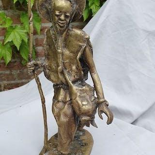 Derme Morou - Bronzestatue eines Hirten