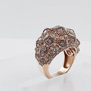 14 kt. Pink gold - Ring 1.88 ct Diamond