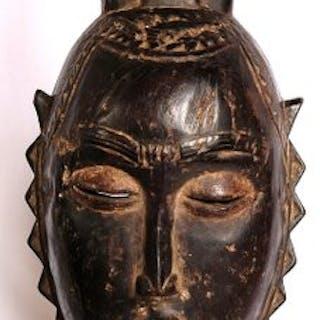 Dance Mask - hard wood - Yaure- Ivory Coast