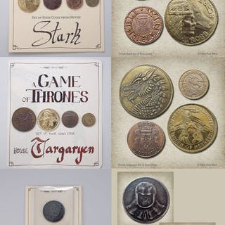 Game of Thrones - 3 sets of coins (9 units):House Stark...