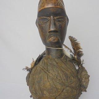 fetisch Figur - Holz, Leder - Teke - Kongo DRK