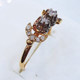 18 kt. Gold - Ring Diamond - Diamond