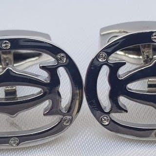Cartier eleganti gemelli con logo CC