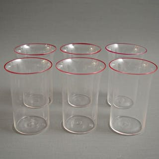 Attr. MVM Cappellin - Edged glasses (6) - Crystal glass