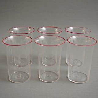 Attr. MVM Cappellin - Bicchieri orlati (6) - Vetro cristallo
