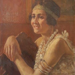 GiovanniBattista Carpanetto (1863-1928) - Ritratto di donna