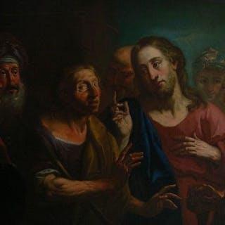 """Niccolò (Nicola) Grassi (Maniera di)- """"Guarigione del cieco nato"""""""