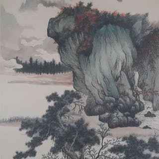 Ink painting - Chinese scroll painting on paper...