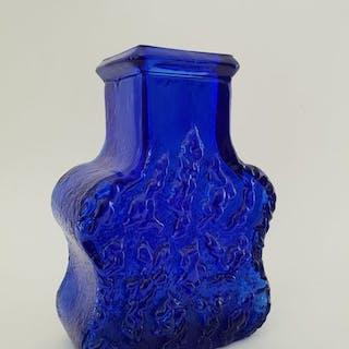 Lars Hellsten voor Skruf- Königsblaue Rindenvase - Glas