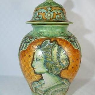 Deruta, Amalfi - Grande vaso decorato in maiolica - 47 cm...