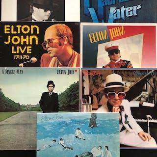 Elton John - Lot 7 Record Albums - Diverse Titel - LP's - 1967/1981