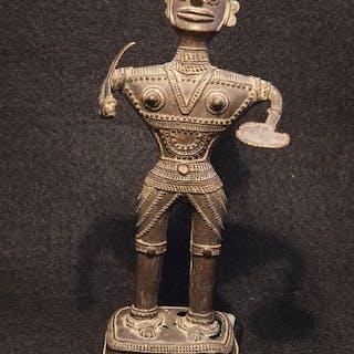 Bastar Bronzefigur einer Göttin, - Bronze - Indien - Mitte des 20. Jahrhunderts