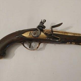 France - Unknown - NAVY - Single Shot - Flintlock - Pistol - 11 Bore