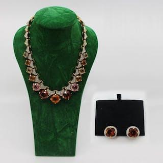 Swarovski - Necklet & Earrings (2) - Crystal