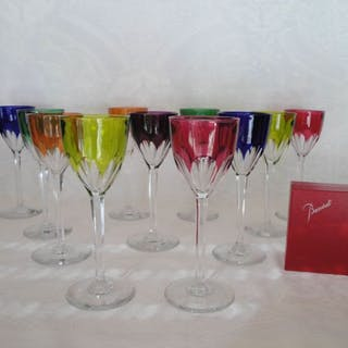 Baccarat- Standing wine glasses (11) - Crystal
