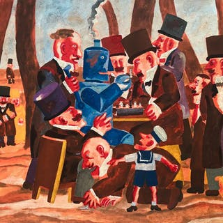 Franz Borghese- Partita a scacchi con robot