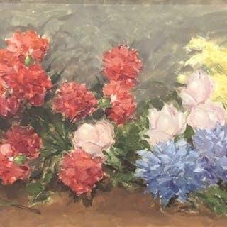 Giuseppe Cocco (1879-1963) - Natura morta con fiori