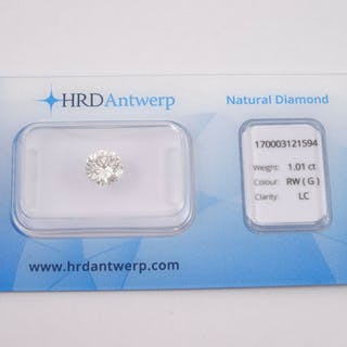 1 pcs Diamond - 1.01 ct - Brilliant - G - LC (loupe clean)
