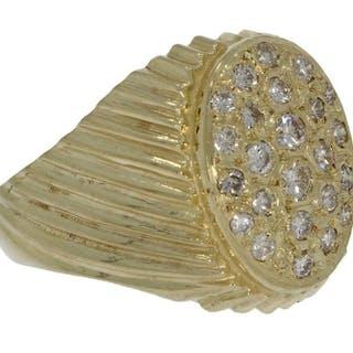 Design - 14 kt. Yellow gold - Ring - 0.50 ct Diamond