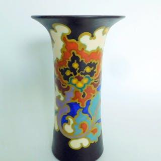 "Kunstaardewerkfabriek Regina, Gouda - Vase - Töpferware, Dekor ""Rosario"""