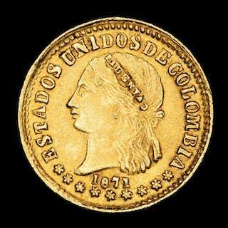 Colombia - 2 Pesos 1871 ceca de Medellín - Gold