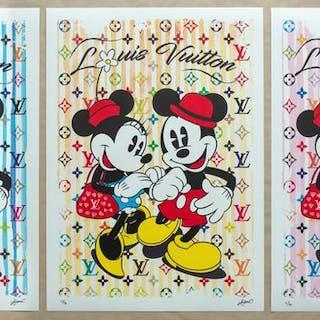 Kobalt - Mickey & Minnie in Paris (Yellow + Blue + Pink)