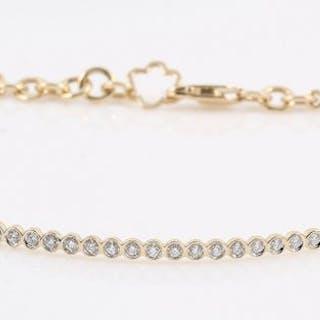 14 kt. Yellow gold - Bracelet - 0.20 ct Diamond