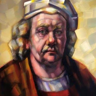 Frans Brandsen - Rembrandt met oorring